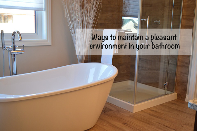 maintain a pleasant environment in your bathroom