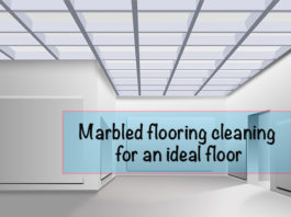Marbled flooring cleaning for an ideal floor